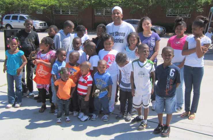 Children and Reverend Brickle