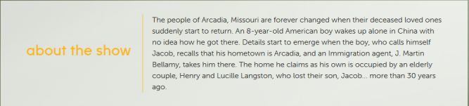 Resurrection ABC episode description